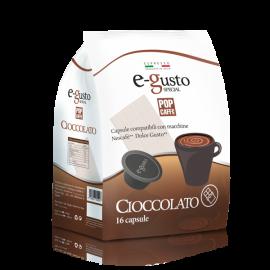 16 Capsule E-Gusto Cioccolato Compatibili Macchine Nescafé* Dolce Gusto*