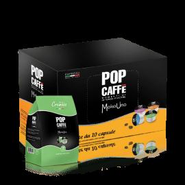 10 Capsule Pop Caffè Moka Uno Miscela 2 Cremoso Compatibili Uno Capsule System