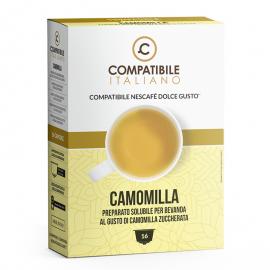 16 capsule Camomilla Solubile Compatibile Italiano, compatibile con Macchine Nescafé Dolce Gusto