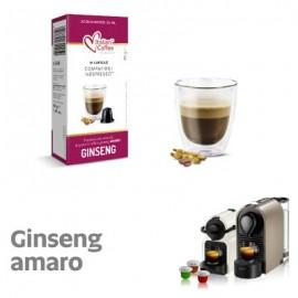 10 Capsule caffè al ginseng amaro Italian Coffee compatibili macchine Nespresso