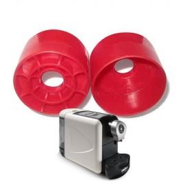 Adattatore in plastica per utilizzare cialde monodose espresso point sulla macchina bidose...