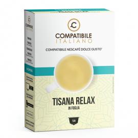 16 capsule Tisana Relax in foglia Compatibile Italiano, compatibile con Macchine Nescafé Dolce Gusto
